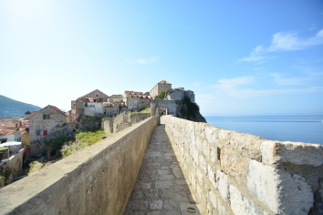 View on the city walls of Dubrovnik.