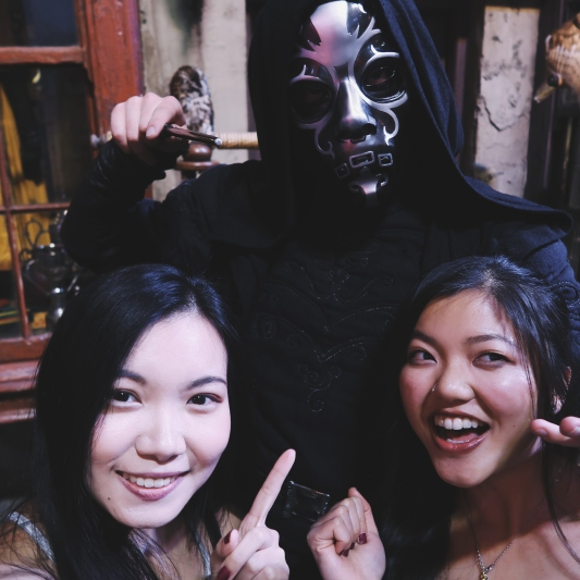 Selfie with death eater!