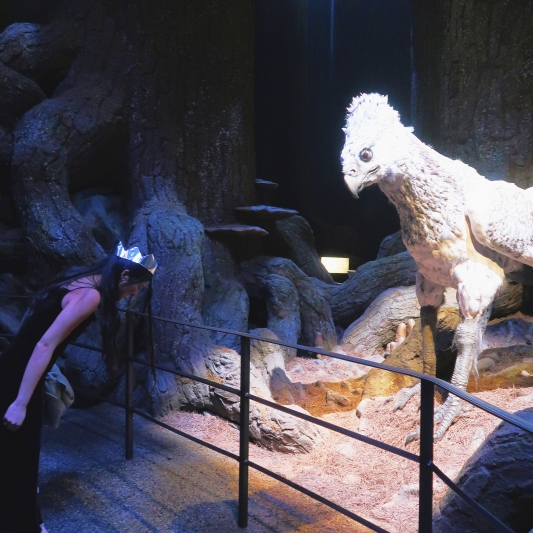 Bowing to Buckbeak, the only way, don't learn from Draco Malfoy please.