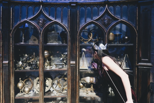 looking through Dumbledore's artefacts.