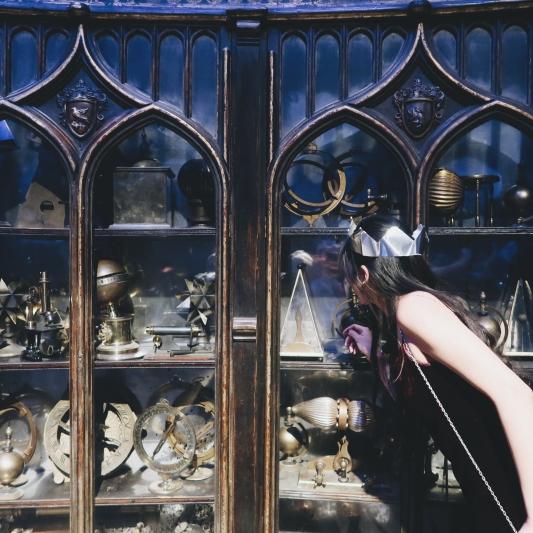 looking through Dumbledore's artefacts.