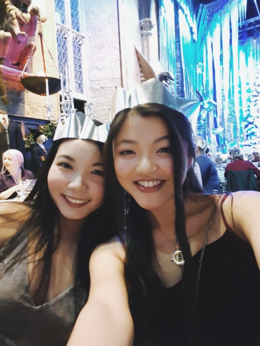 There were christmas crackers of course, wore our crowns.